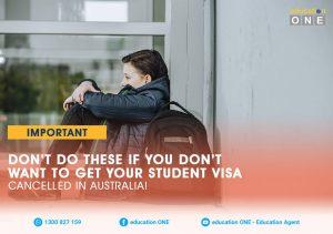 Student Visa Cancellation in Australia
