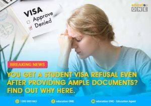 Australian Student Visa Refusal after Providing Complete Documents