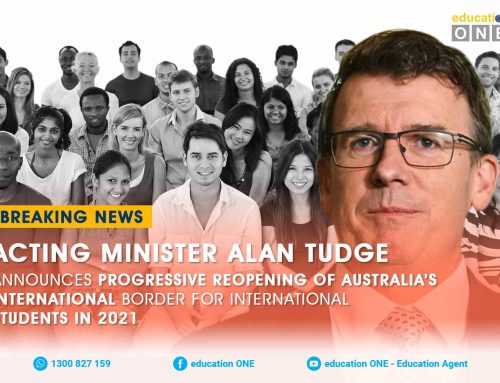 Acting Minister Alan Tudge announces progressive reopening of Australia's International Border for International Students in 2021